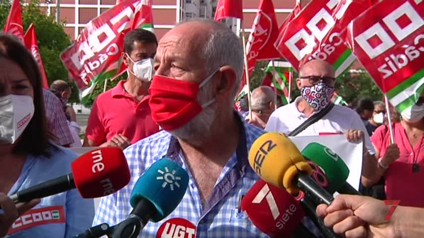 UGTy CCOO alertan en Cádiz de las altas cifras de siniestralidad laboral