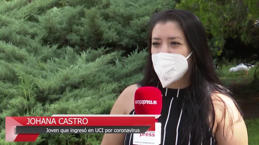 Una joven lucha contra las secuelas que le dejó el covid tras 45 días en la UCI