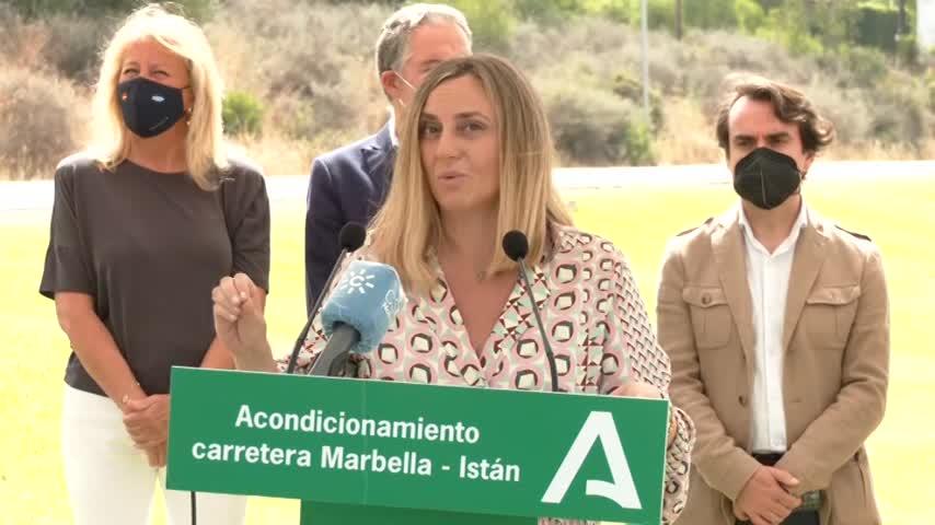 Junta y Ayuntamiento de Marbella acuerdan el arreglo integral de la carretera a Istán