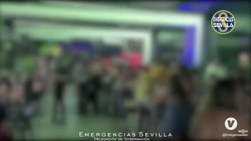 Dos precintos, dos cierres y 632 desalojados en Sevilla capital