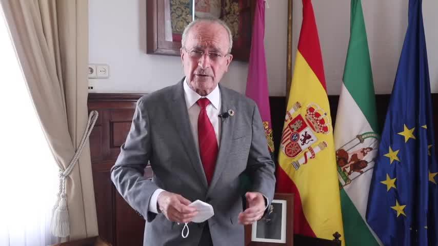 El alcalde de Málaga pide responsabilidad y colaboración