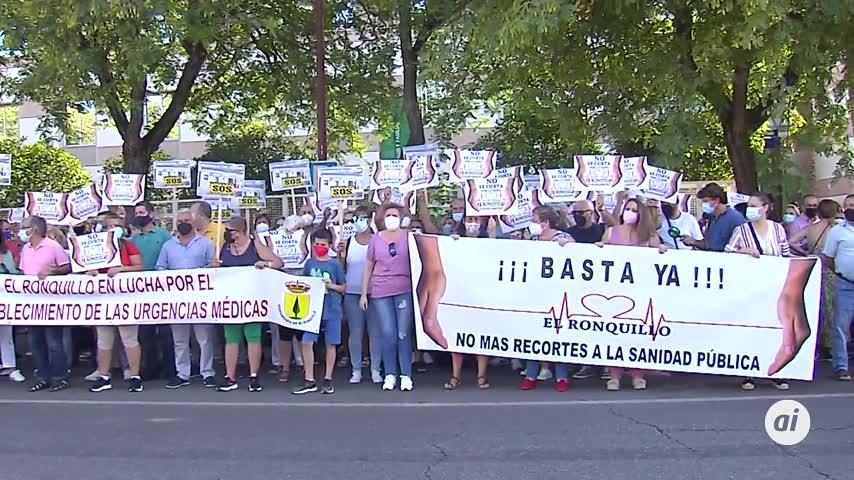 Los pueblos del distrito sanitario Sevilla Norte protestan por los recortes en sus centros