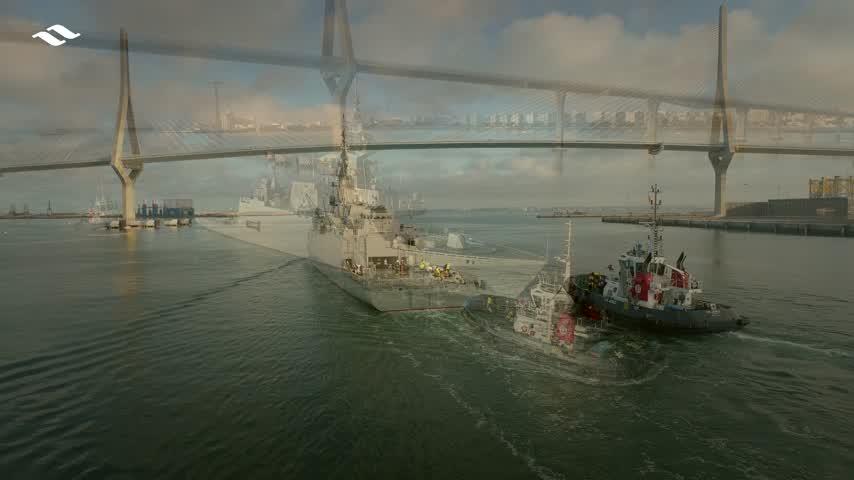 La corbeta Al-Jubail para Arabia Saudí inicia sus pruebas de mar en la Bahía de Cádiz