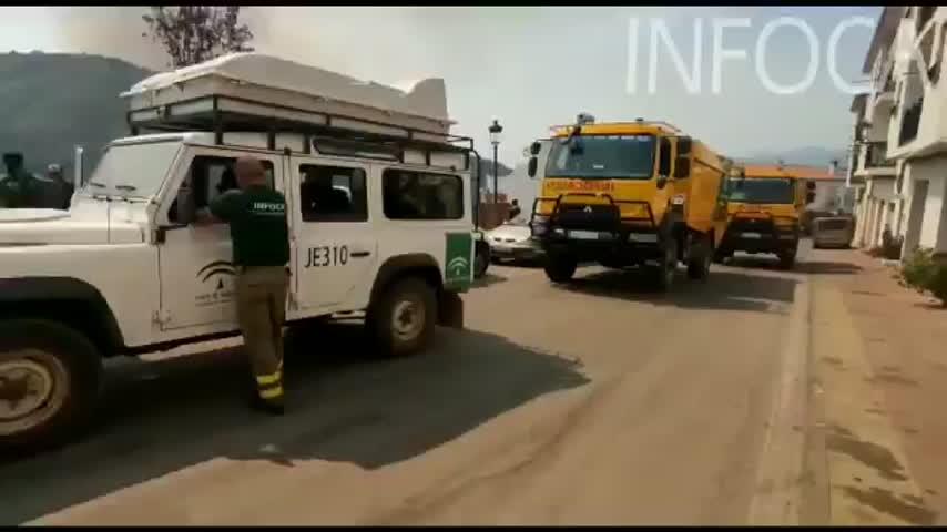 La UME asume la defensa de Jubrique y Genalguacil ante el nuevo incendio en Sierra Bermeja