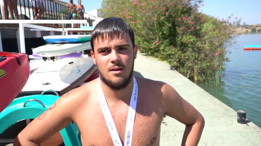 El nadador infantil del DKV CN Jerez Ángel Belinchón fue octavo en la distancia de 1500 m