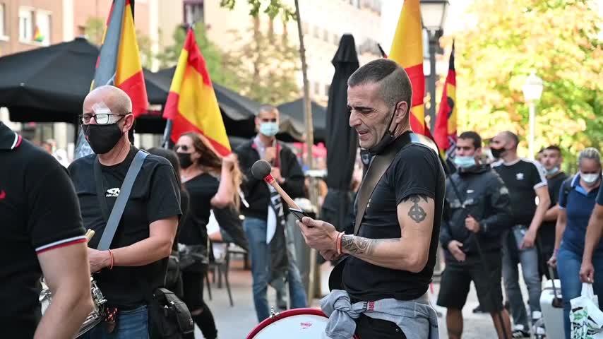 Un detenido en la manifestación neonazi de Chueca donde se gritó: