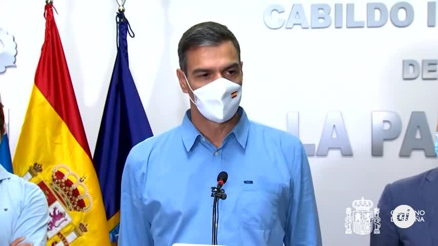 Pedro Sánchez garantiza que toda España está con La Palma y la reconstrucción