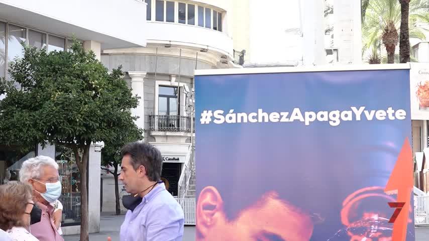 El PP presenta en Jerez su campaña #SánchezApagaYvete