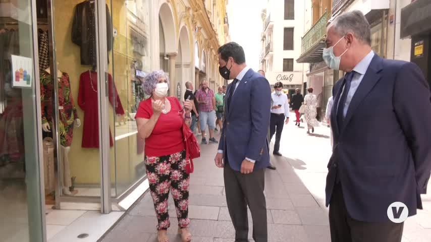 Moreno escenifica su apoyo a Sanz como candidato a la Alcaldía de Sevilla