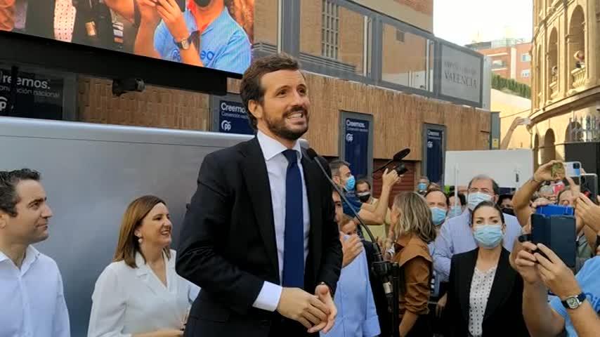 Pablo Casado: Seguimos con el partido unido como una piña para salvar a España