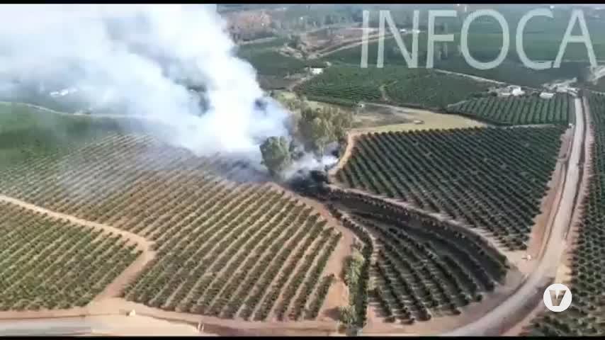 El Infoca da por extinguido incendio declarado en Cantillana (Sevilla)