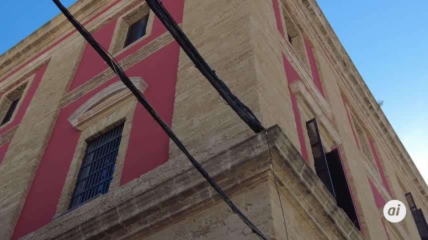 La culpa del cableado en la fachada trasera del Consistorio es de Endesa. ¿De quién si no?