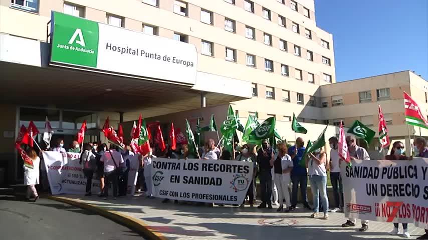 Algeciras, escenario de protestas contra los despidos en la sanidad