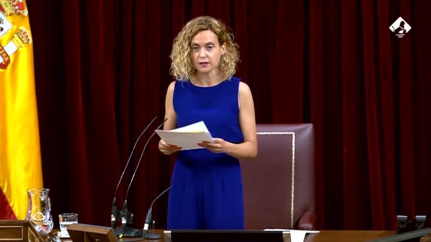 Batet ve clara la inhabilitación de Rodríguez pero pide aclaración al Supremo