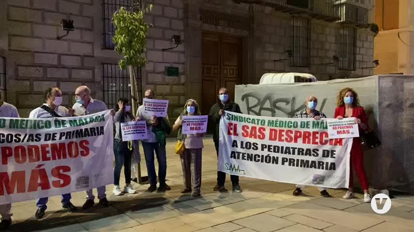 Nueva protesta de médicos en Málaga por la mala situación de la atención primaria