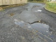 Pothole fault reported - st cyinder Close, Ebbw Vale, Blaenau Gwent NP23 6nr, UK