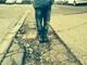 Pothole fault reported - Trading Estate Road, London NW10, UK