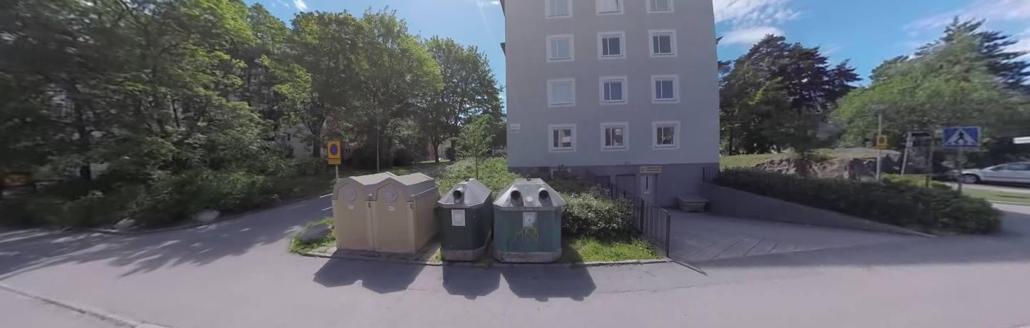 Gaslacka i flerfamiljshus i rasunda