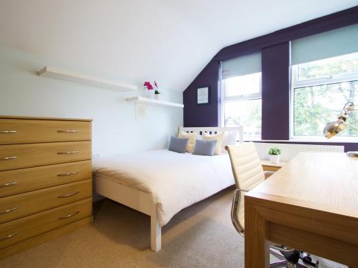 4 Albert Grove, Nottingham, Student House, Bedroom, Angle 1