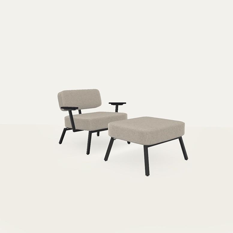 Ode lounge chair 1 zits met armleuning brema beige05 | Studio HENK | Listing_image