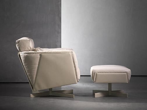 HEIT swivel chair and ottoman