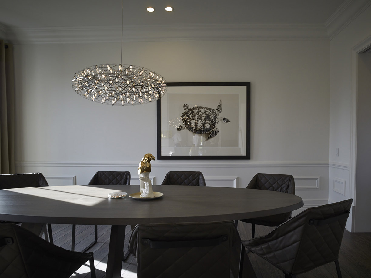 Hovnanian homes at Willowsford with IDS table and KEKKE dining chairs