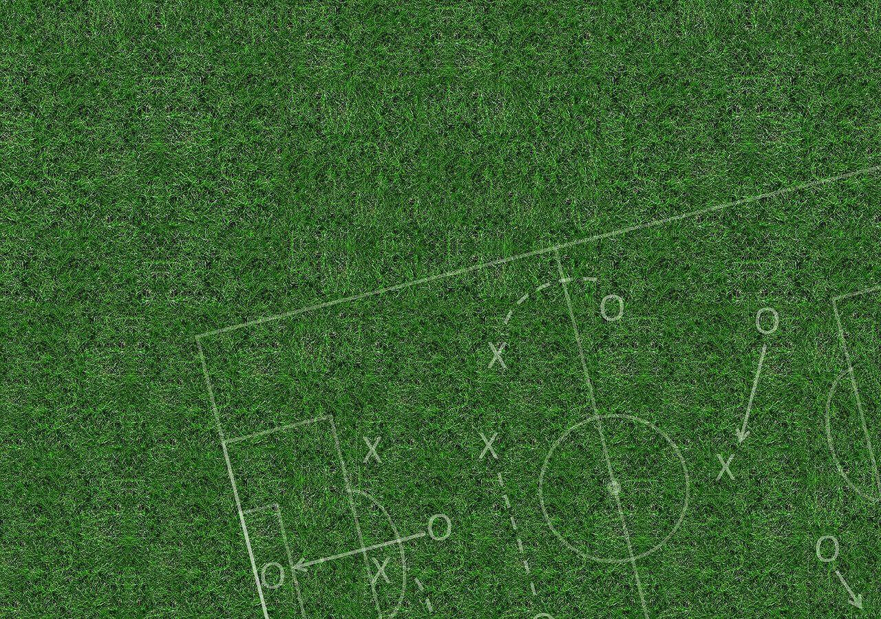football field with tactics