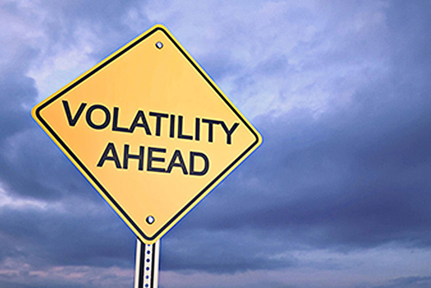 road sign volatility ahead