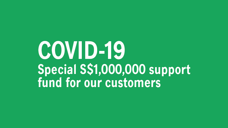 service card image for - COVID-19: Special S$1,000,000 support fund for our customers