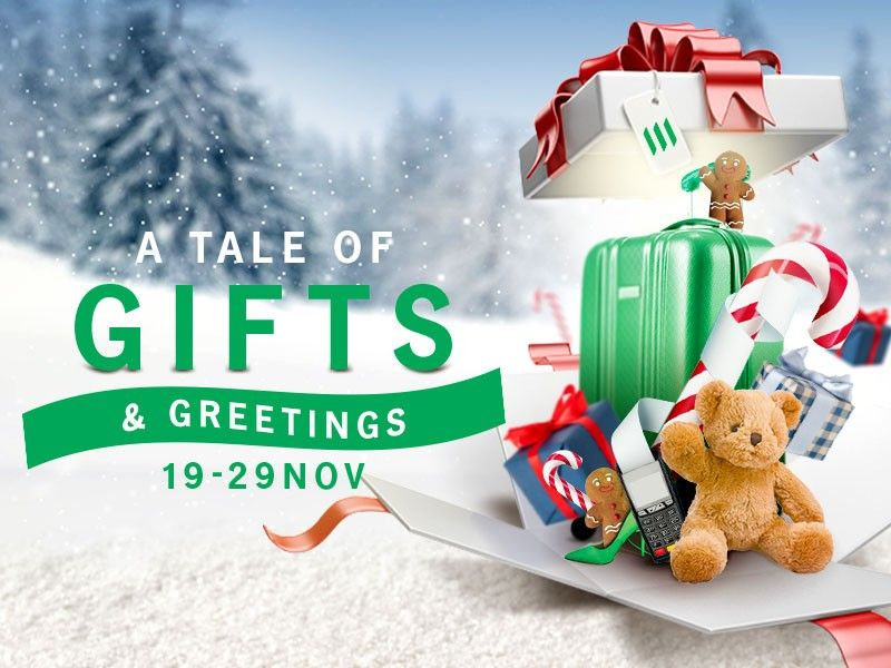 A tale of gifts and greetings top banner image
