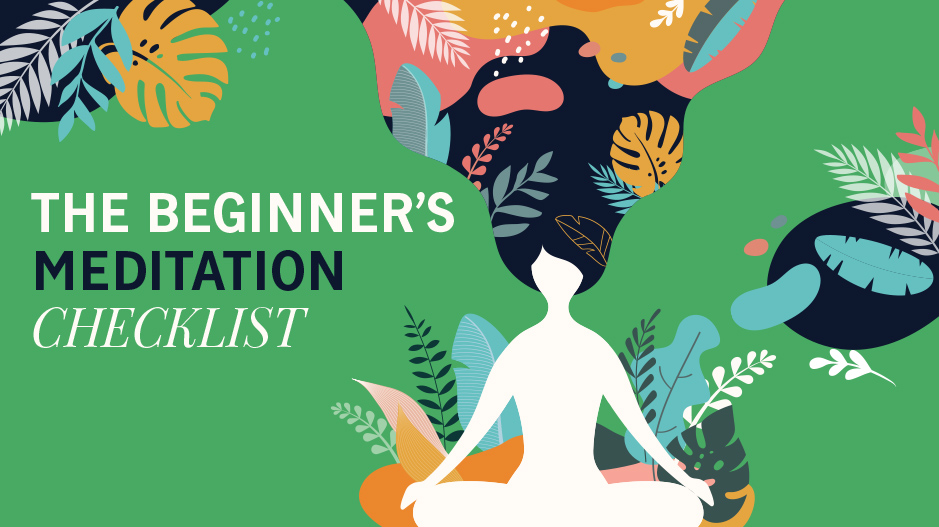The beginners meditation checklist top banner image