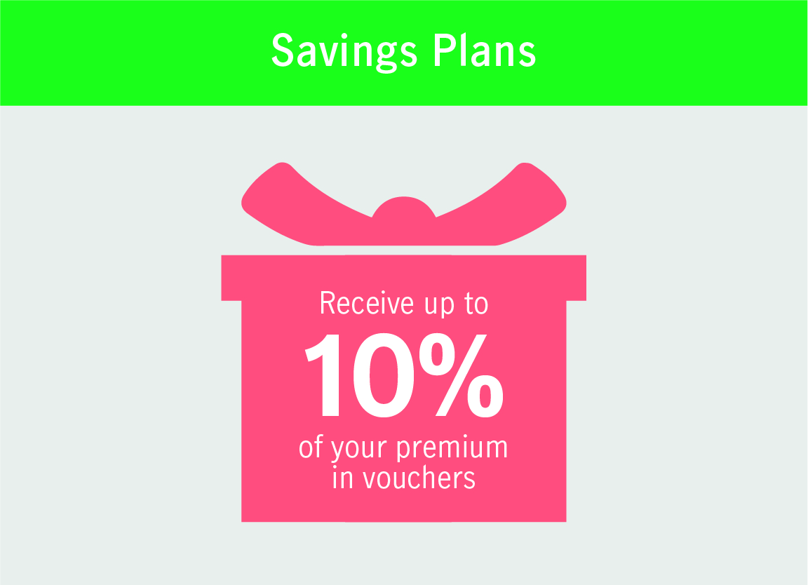 Receive up to 10% of your premium in vouchers