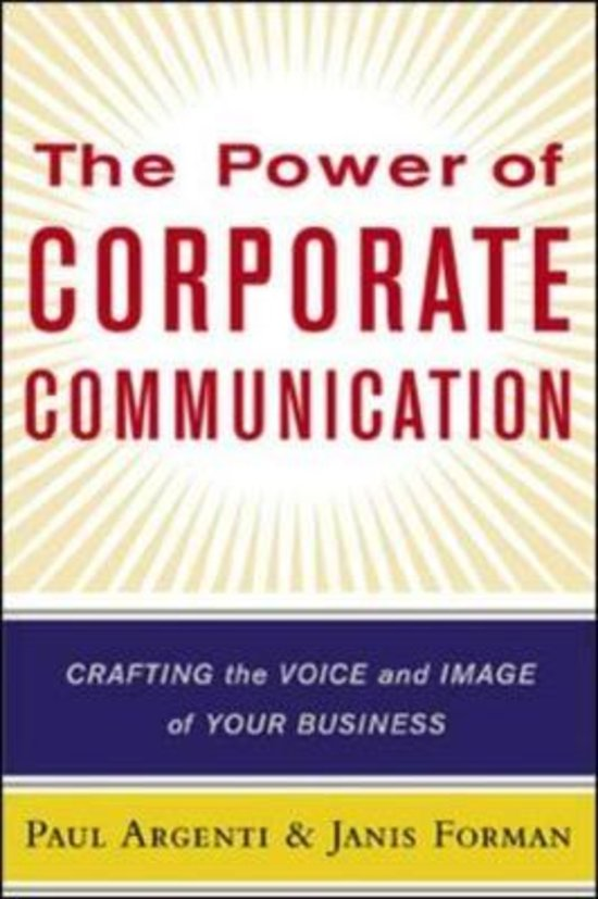 The Power of Corporate Communication