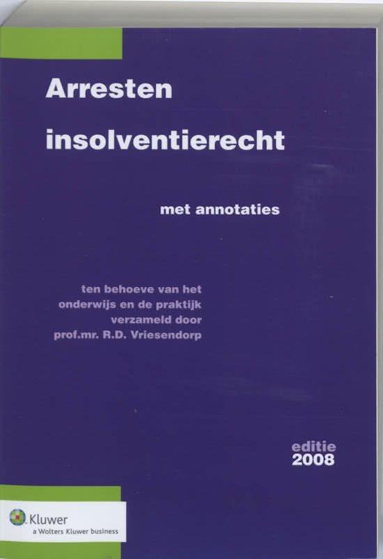 Arresten insolventierecht / 2008
