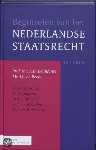 Beginselen van het Nederlands staatsrecht / druk 16