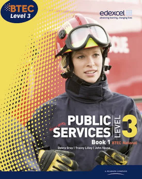 BTEC Level 3 National Public Services Student Book