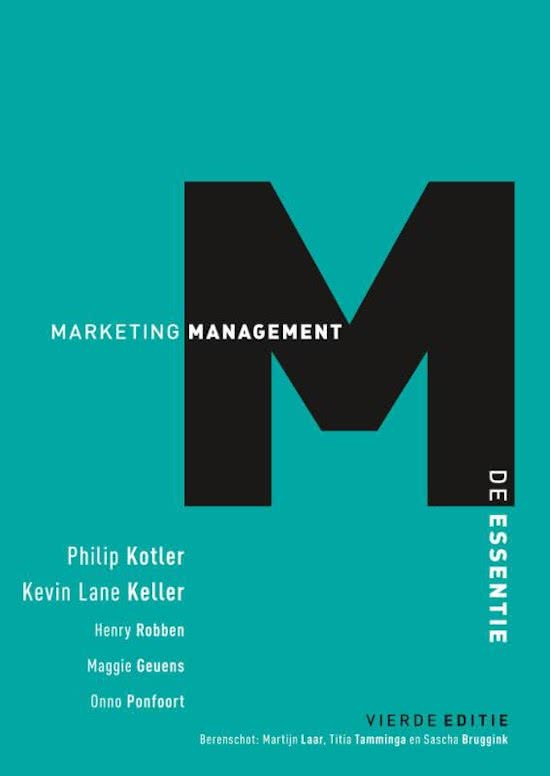 Marketingmanagement, de essentie, 4e editie