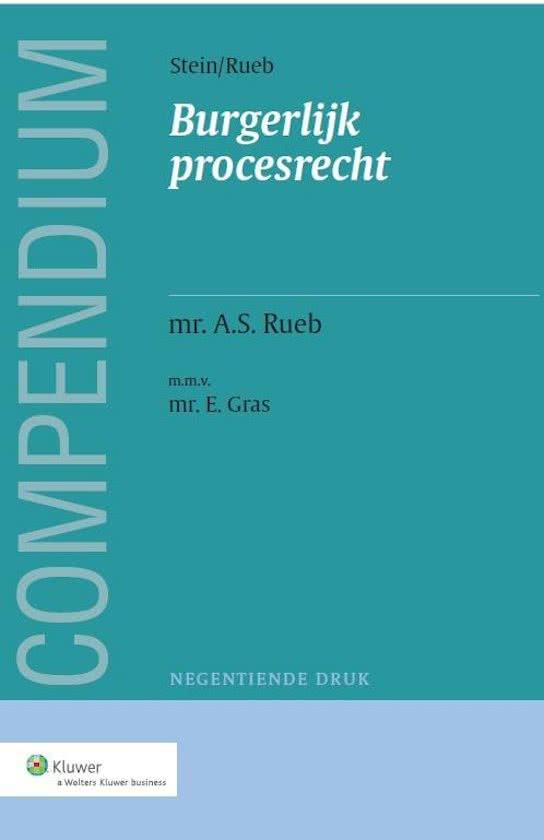 Compendium van het burgerlijk procesrecht