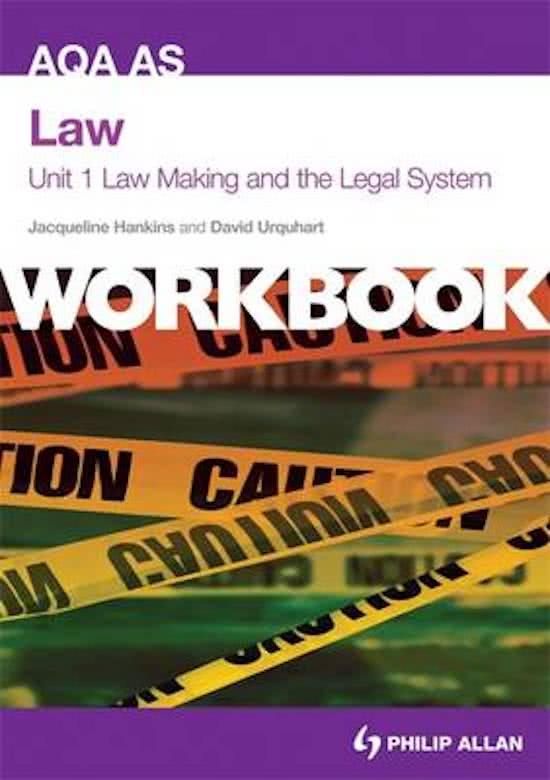AQA AS Law Unit 1 Workbook