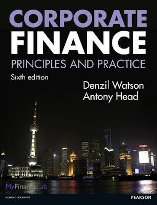 Corporate Finance, 6th edition