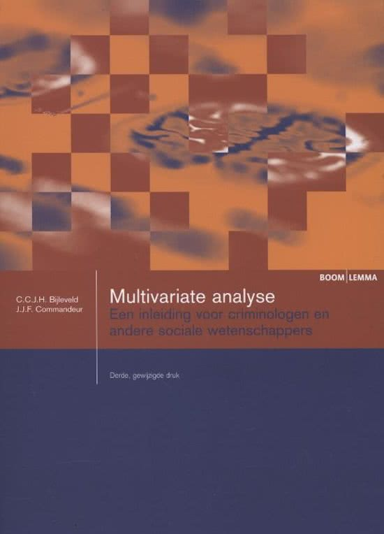 Boom studieboeken criminologie - Multivariate analyse