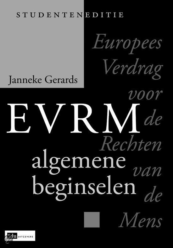 Europees verdrag voor de rechten van de mens, algemene beginselen, studenteneditie
