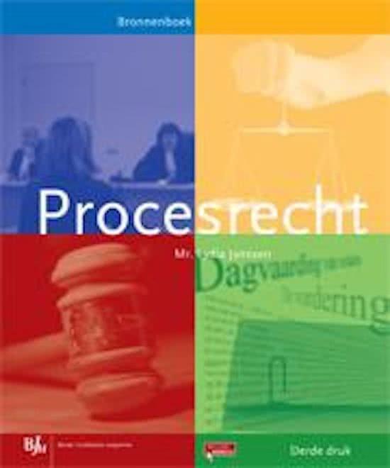 Procesrecht -  Bronnenboek