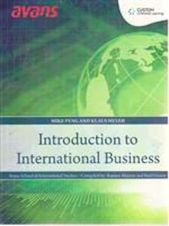 Custom International Business