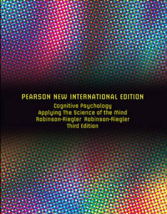Cognitive Psychology: Pearson  International Edition