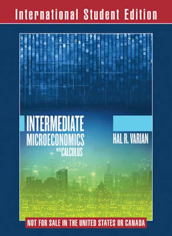 Study Notes For Micro Economie At VUB Stuvia