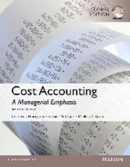 Cost Accounting, Global Edition