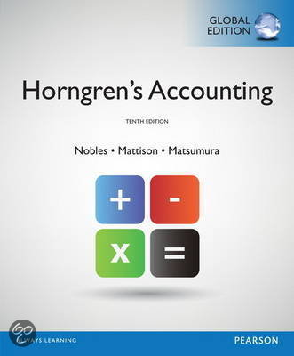 Horngren's Accounting with MyAccountingLab, Global Edition