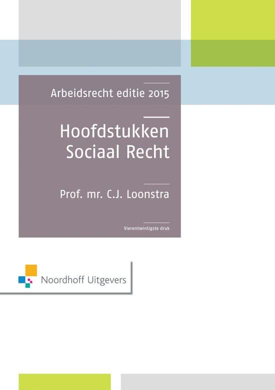 Hoofdstukken sociaal recht  / Editie 2015