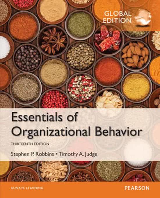 Notes Book Essentials Of Organizational Behavior Global